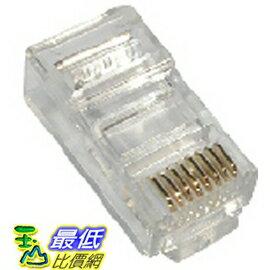 _A [有現貨 馬上寄] 100顆 全新 進口 AMP 三叉 RJ45 網路 鍍金 8P8C 模組 接頭 (10011__m04)
