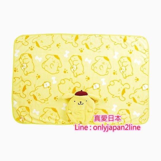 【真愛日本】16101400055 立體造型收納毛毯靠枕-PN  三麗鷗家族 布丁狗  毯子 毛毯