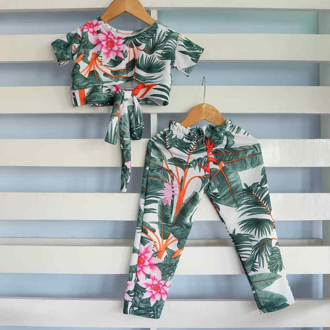 ebf3690a0 Infant Baby Girl Summer Floral T-shirt Top Tee+Pants Trousers Kid Clothes  Set