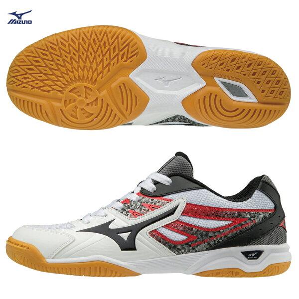 81GA182009(白X黑X紅)WAVEKAISERBURG5桌球鞋【美津濃MIZUNO】