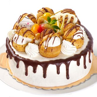 【羅撒蛋糕】卡士達泡芙鮮奶油蛋糕|「城堡」|生日蛋糕|6吋~8吋★5月全館滿499免運