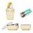 美國【Kangovou】 小袋鼠不鏽鋼安全兒童餐具簡配組(檸檬黃)+不鏽鋼湯叉組 - 限時優惠好康折扣