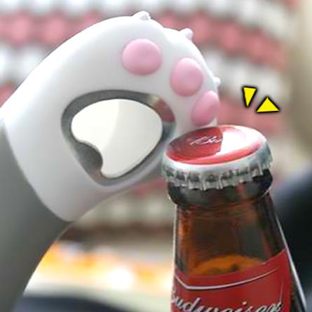 《波卡小姐》乾拉!韓國四色貓爪開瓶器 啤酒開罐器 聚餐必備 療癒雜貨 企業活動贈品[FD-S024]