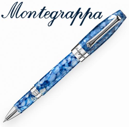 義大利Montegrappa萬特佳財富馬賽克系列-鋼珠筆(海洋藍)ISFOBRID支