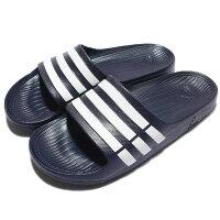 Adidas愛迪達,adidas愛迪達鞋子推薦到【ADIDAS】DURAMO SLIDE 拖鞋 藍 男 女 情侶鞋 -G15892