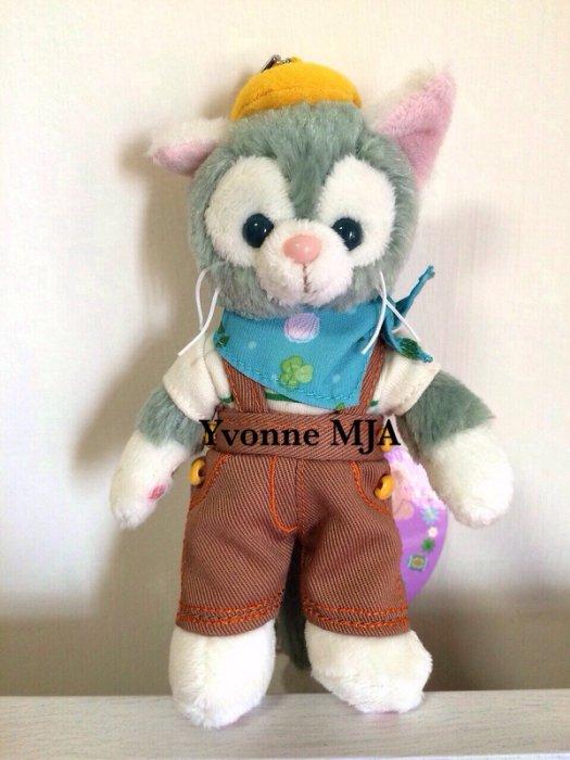 Yvonne MJA日本代購*東京迪士尼Disney海洋樂園限定正品Gelatoni傑拉東尼畫家貓(春巡)站立吊飾娃