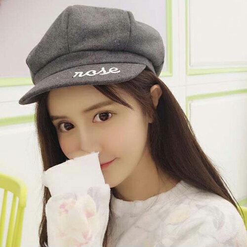 貝雷帽 畫家帽 字母素色 八角帽 遮陽 貝雷帽【QI8526】 BOBI  09/01