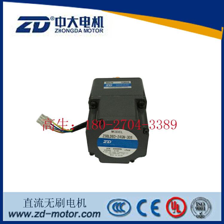 中大60W無刷電機Z5BLD60-24GN-5GN120K色母攪拌機專用無刷馬達1入