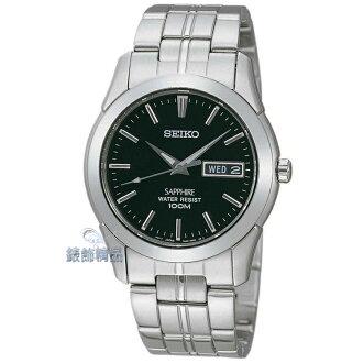 【錶飾精品】SEIKO手錶 精工錶 黑面 藍寶石鏡面 夜光 時尚 SGG715 男表 SGG715P1 生日 情人禮物