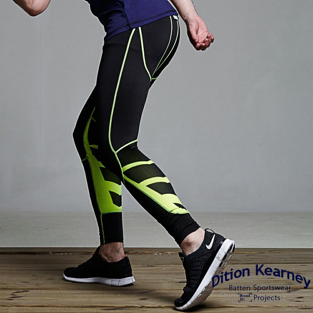 DITION 單車輕量內搭褲 V型螢光車線 低檔壓縮褲 2