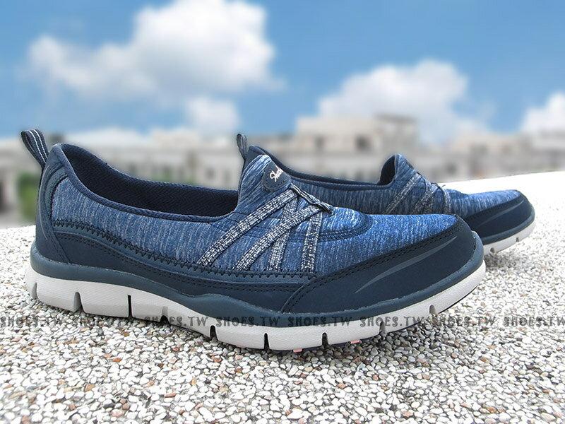 Shoestw【22762NVY】SKECHERS 健走鞋 Air-Cooled 深藍 緞帶 記憶鞋墊 女款