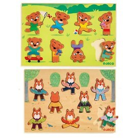 DJECO 智荷 木拼圖 配配對 小熊/小狐狸『121婦嬰用品館』