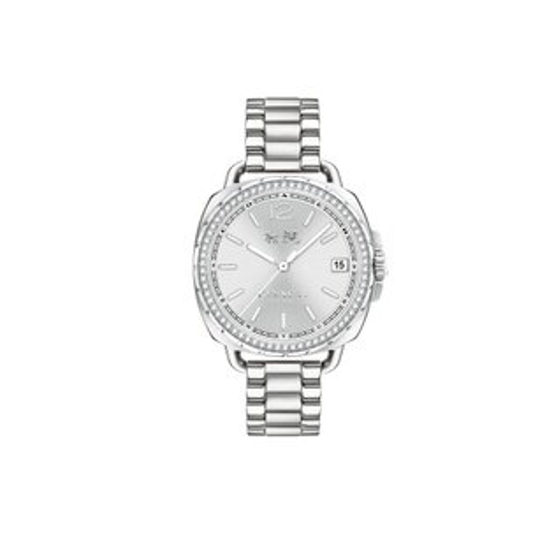 COACH奢華時尚大三針女錶銀14502588