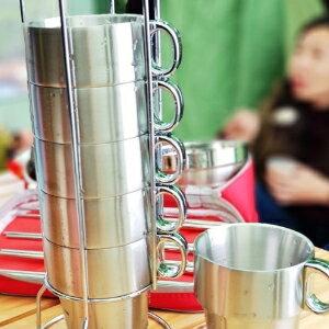 美麗大街【S106121903】高品質戶外不銹鋼杯6入組露營必備
