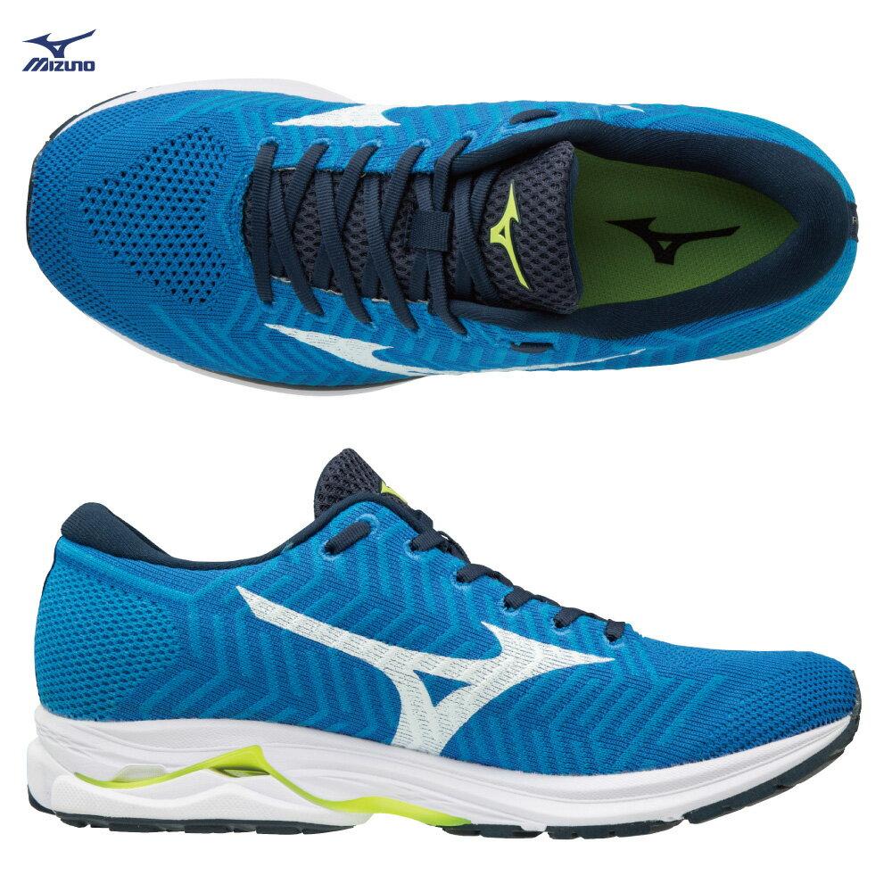 J1GC182401(藍X白)WAVEKNIT技術編織 WAVEKNIT R1 男慢跑鞋 S【美津濃MIZUNO】 1