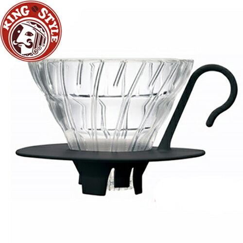 金時代書香咖啡 HARIO V60黑色01好握玻璃濾杯1~2杯 VDGN-01B