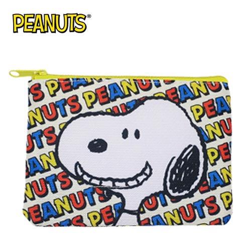 大頭款【日本正版】史努比 零錢面紙包 零錢包 卡片包 收納包 Snoopy PEANUTS - 294364