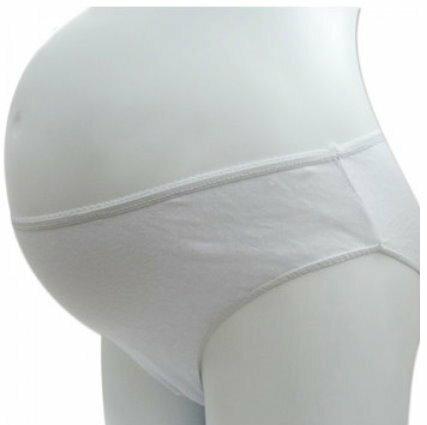 *漂亮小媽咪*月子必備 麗子 棉質免洗褲 產婦型 孕婦免洗內褲 5入 RK003WHITE