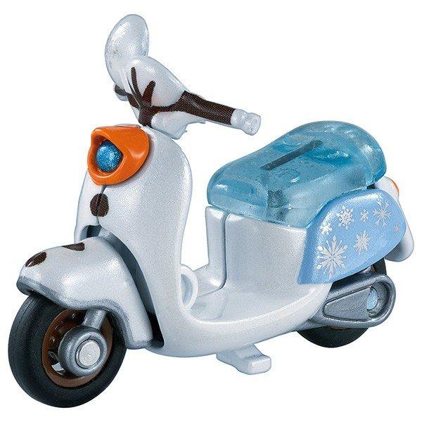 《TOMICA 多美小汽車》DM冰雪奇緣2雪寶摩托車  東喬精品百貨