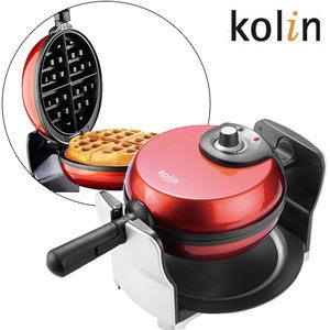 【歌林】超厚片翻轉鬆餅機(紅色)KT-LNW06R/KTLNW06R 【刷卡分期+免運】