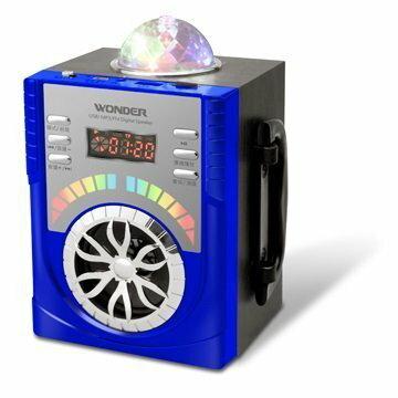 WONDER USB/MP3/FM 隨身音響(WS-P009) 紅/藍色