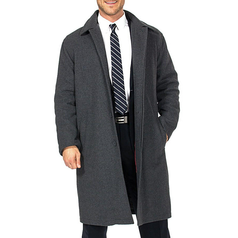 Alpine Swiss Men's Zach Knee Length Jacket Top Coat Trench Wool Blend Overcoat 5