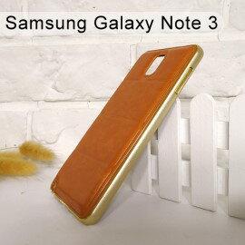 金屬框皮質背蓋保護殼SamsungGalaxyNote3N900N9000N9005