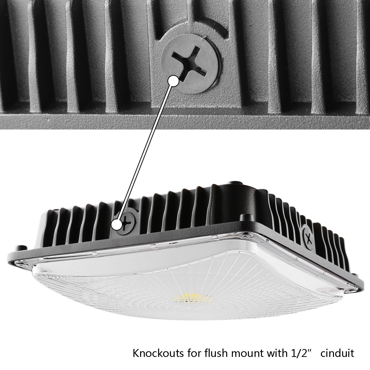50W LED Square Canopy Ceiling Light Lamp Galley Garage Bay Light 2