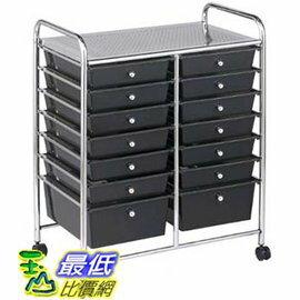 [COSCO代購]移動式雙排層設計14層抽屜車_W108083