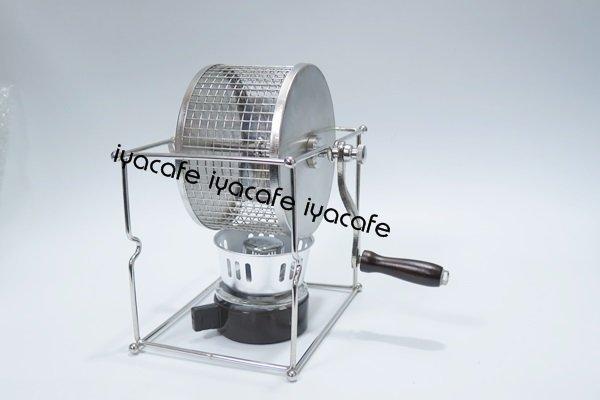 附發票-愛鴨咖啡-手搖烘焙機不銹鋼小型滾筒烘豆機家用DIY烘烤機