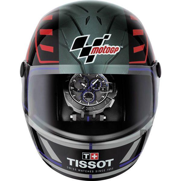 全球限量5000只 TISSOT 天梭 T-RACE MOTOGP 2017限量版賽車錶-黑x藍 / 45mm T0924173706100 6