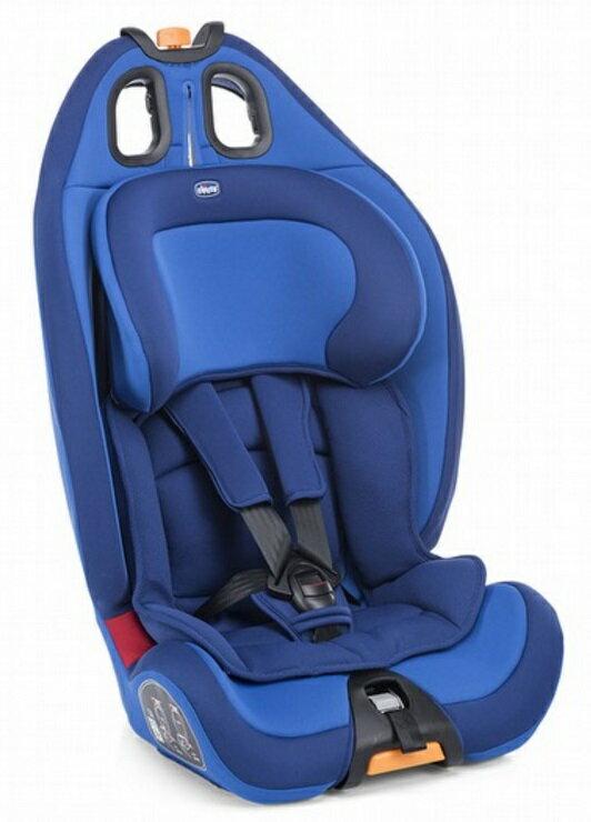 【淘氣寶寶】Chicco Gro-up123 成長型兒童汽車安全座椅 9~36kg 科技藍【公司貨】