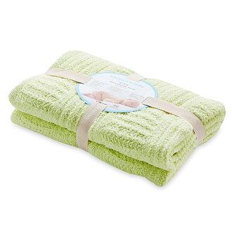 【淘氣寶寶】奇哥 立體格紋柔舒毯(小-80×100公分)(綠色)【奇哥正品】