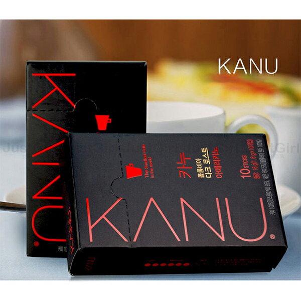 韓悅 Maxim KANU 美式黑咖啡 即溶咖啡 無糖 10入 哥倫比亞豆 食品 韓國製造進口 JustGirl