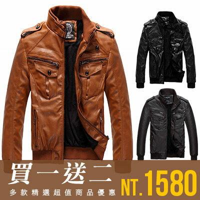 Free Shop~QTJFP501~買一送二^(圍巾 上衣^) 型男 精緻工藝軍肩內裏保