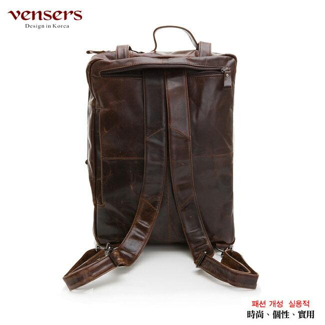 【Vensers】小牛皮潮流個性包~多功能包(NE991101深咖啡) 1