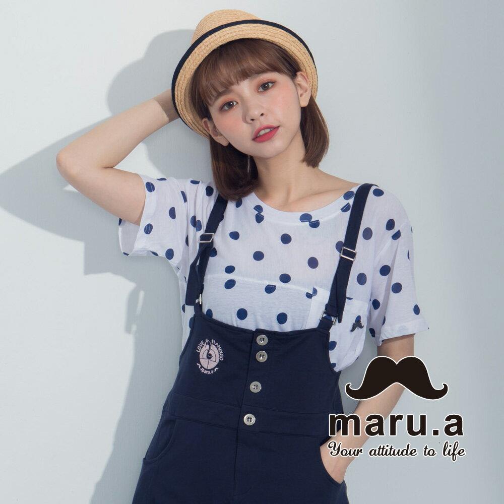 【maru.a】滿版圓點小口袋上衣7321224 0