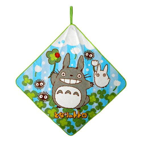 【真愛日本】18030800013 純綿擦手巾-幸運草藍綠 宮崎駿 龍貓 TOTORO 小毛巾 個人清潔用品 擦手巾