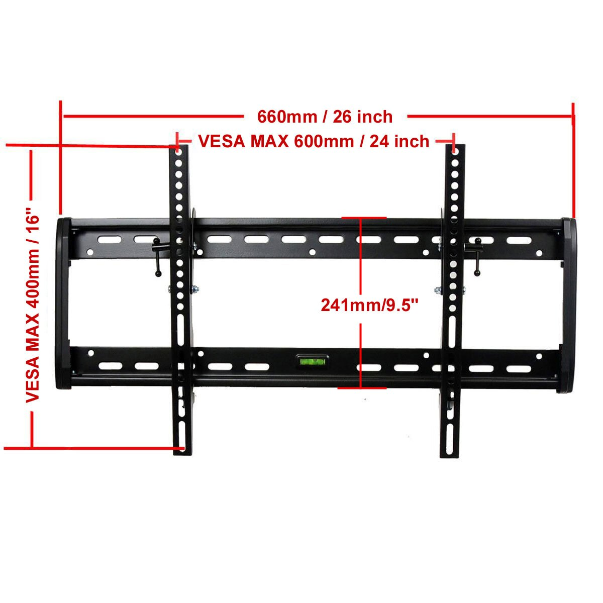 "VideoSecu Tilt LED LCD Plasma TV Wall Mount for most 32 37 39 40 42 46 47 50 51 52 55 60 65"" Flat Panel Screen HDTV - 165lbs 1QH 1"