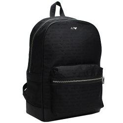 ARMANI JEANS 經典品牌AJ圖騰LOGO後背包(黑)