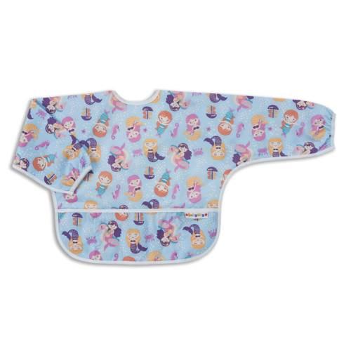 【任二入95折】BabyCity娃娃城-防水長袖圍兜(1-3A)紫色美人魚