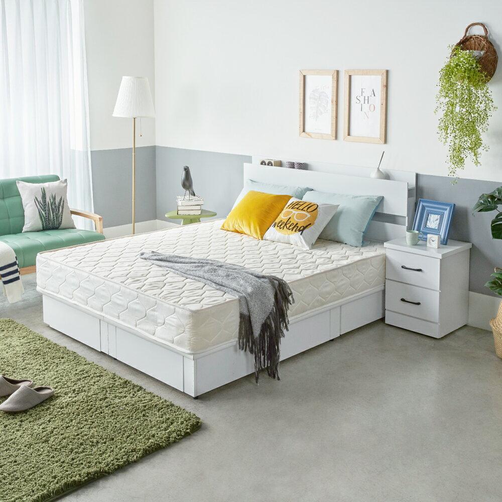 伊芙琳現代風木作系列房間組 / 4件式(床頭+抽底+床墊+床頭櫃) / 4色 / H&D東稻家居 1