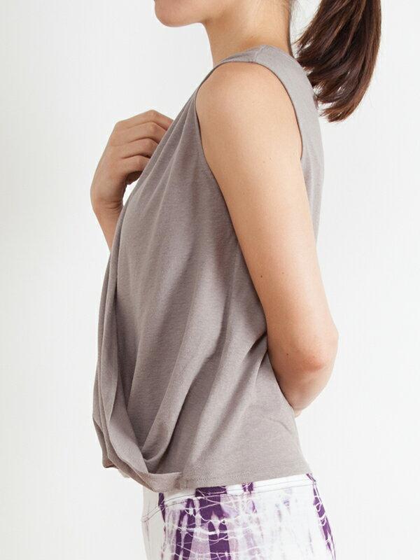 【Kyoto】100%有機棉胸前交叉背心 日本製 瑜珈服 5