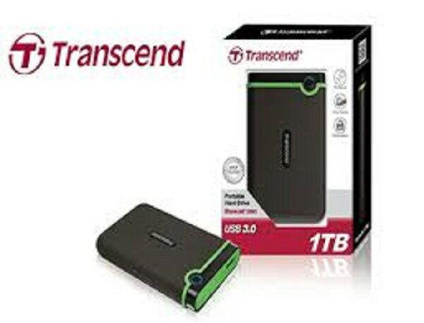 Transcend 創見 1TB 2.5吋 USB3.0 Slim StoreJet2.5吋 M3S Portable HDD超薄款軍規抗震行動硬碟  TS1T