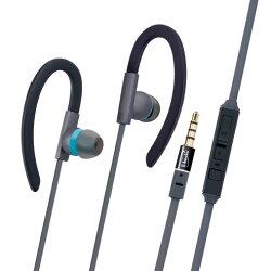 【迪特軍3C】E-books S34 運動型音控接聽氣密耳機 耳掛設計運動中不脫落,運動型軟式矽膠