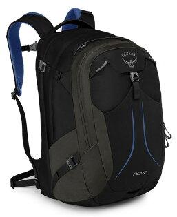 【Osprey美國】NOVA33電腦背包15吋筆電背包城市背包旅行背包女款蘭花黑〈容量33L〉/Nova33