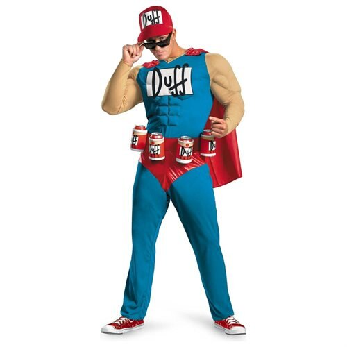 The Simpsons - Duffman Classic Muscle Adult Halloween Costume 0