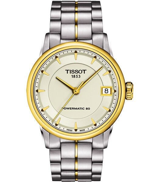 TISSOT 天梭 T-Classic Luxury 機械手錶-銀/半金 T0862072226100
