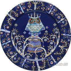 iittala Taika Plate Flach 貓頭鷹魔幻森林餐盤 27cm 藍色 #1011635