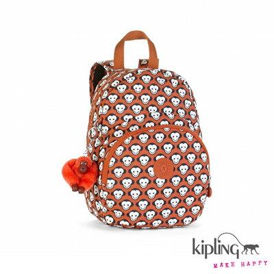【結帳輸入fashion0511-2折100】Kipling後背包 繽紛橘小猴子印花 K1528314K
